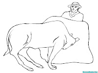 Printable Bull Kids Coloring Pages