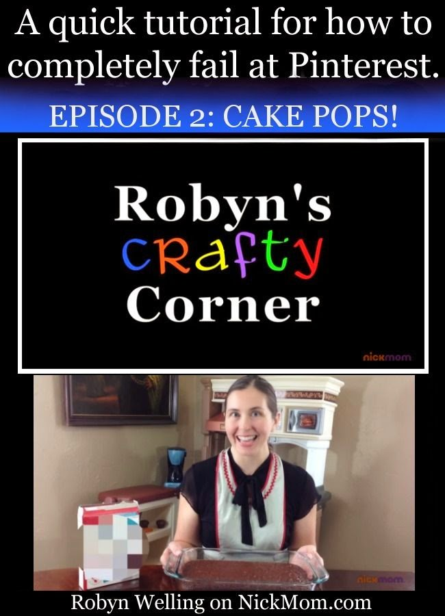 Those cake pops you see on Pinterest are never perfect - check out this hilarious video to see why! Robyn's Crafty Corner by Robyn Welling @RobynHTV
