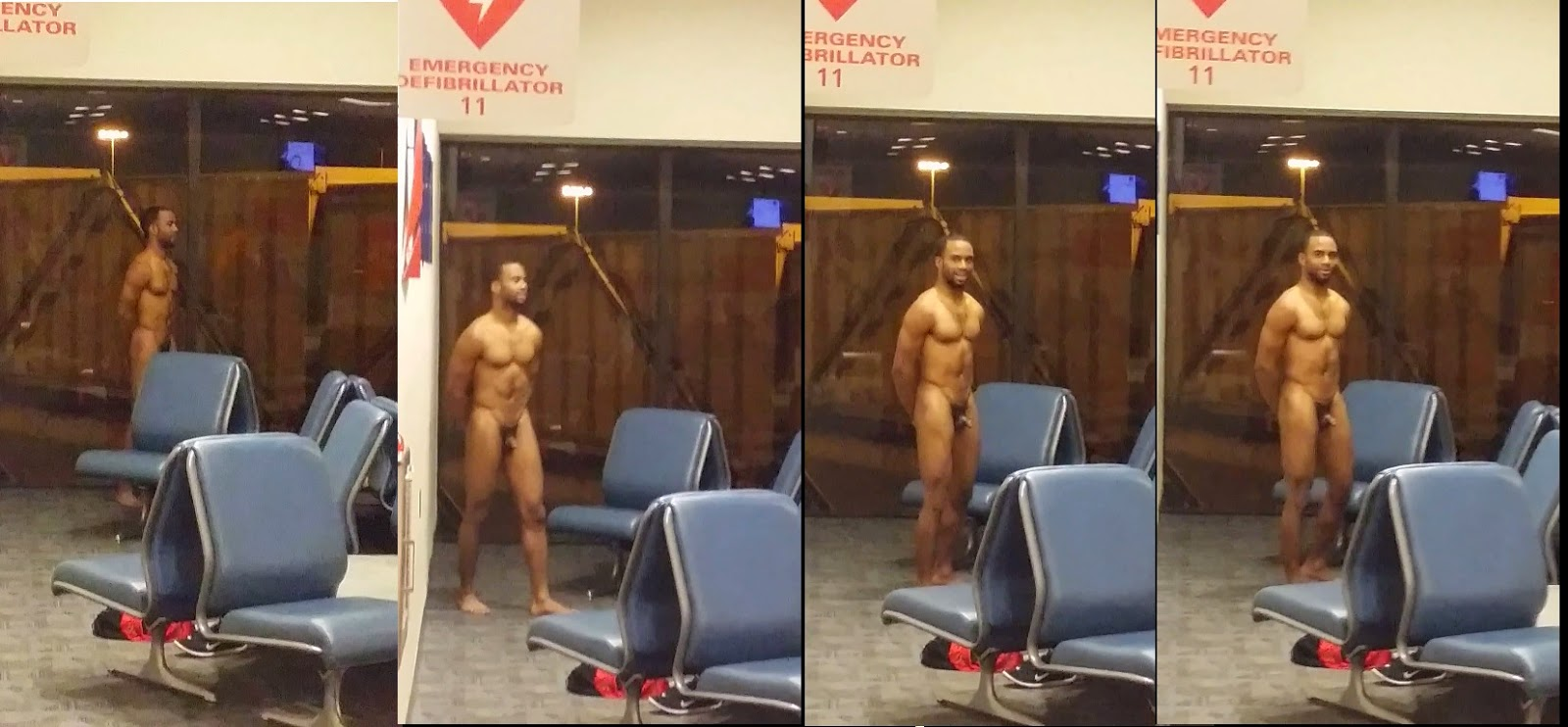 nude men at airports