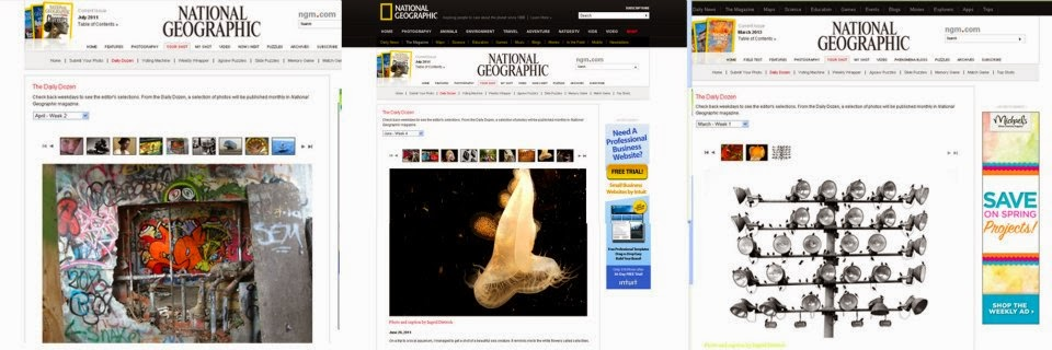 National Geographic Magazine-Who said three publications?