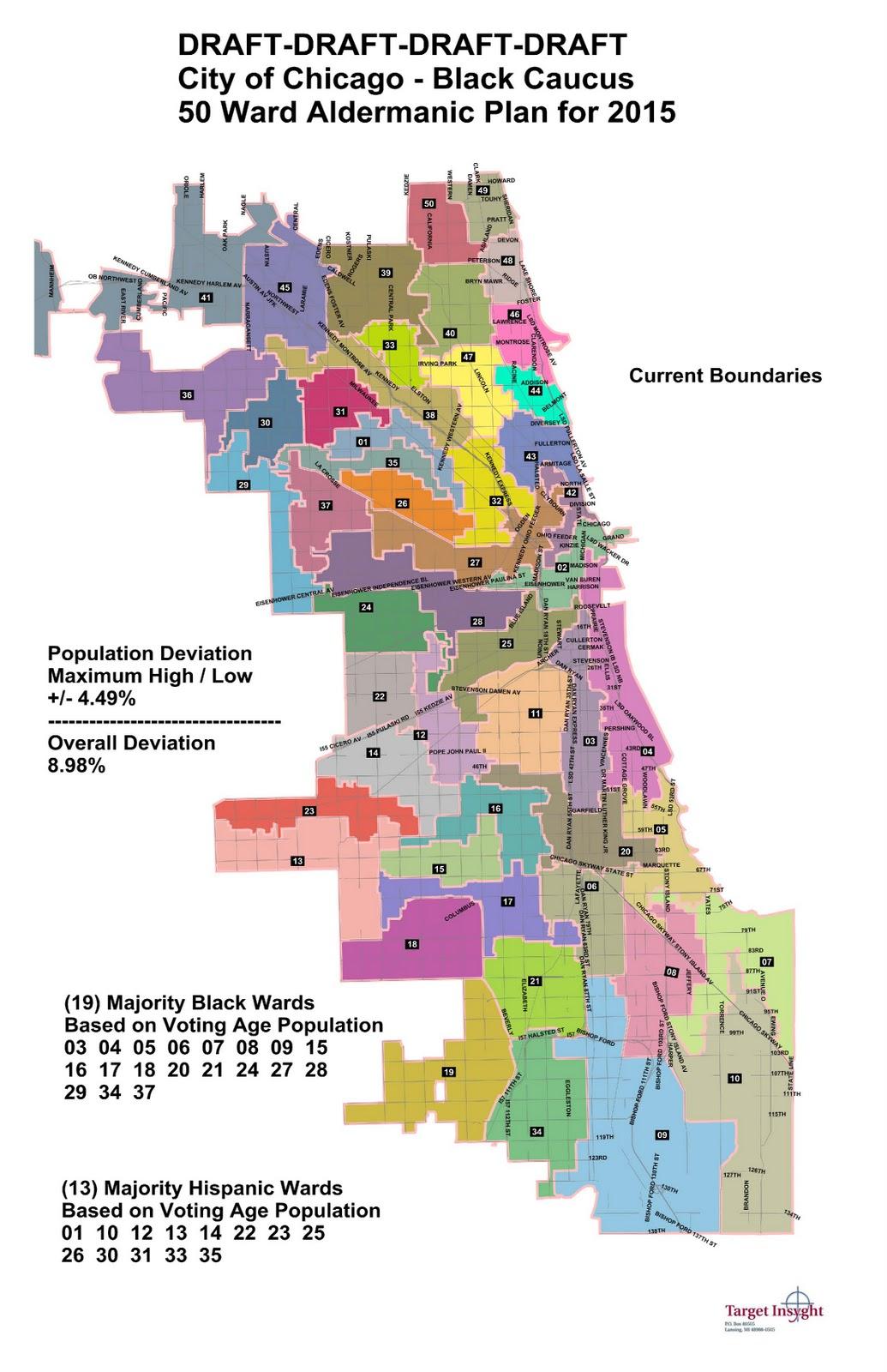 The Sixth Ward MAPS City Council Black Caucus  Wards Proposal - Chicago alderman map