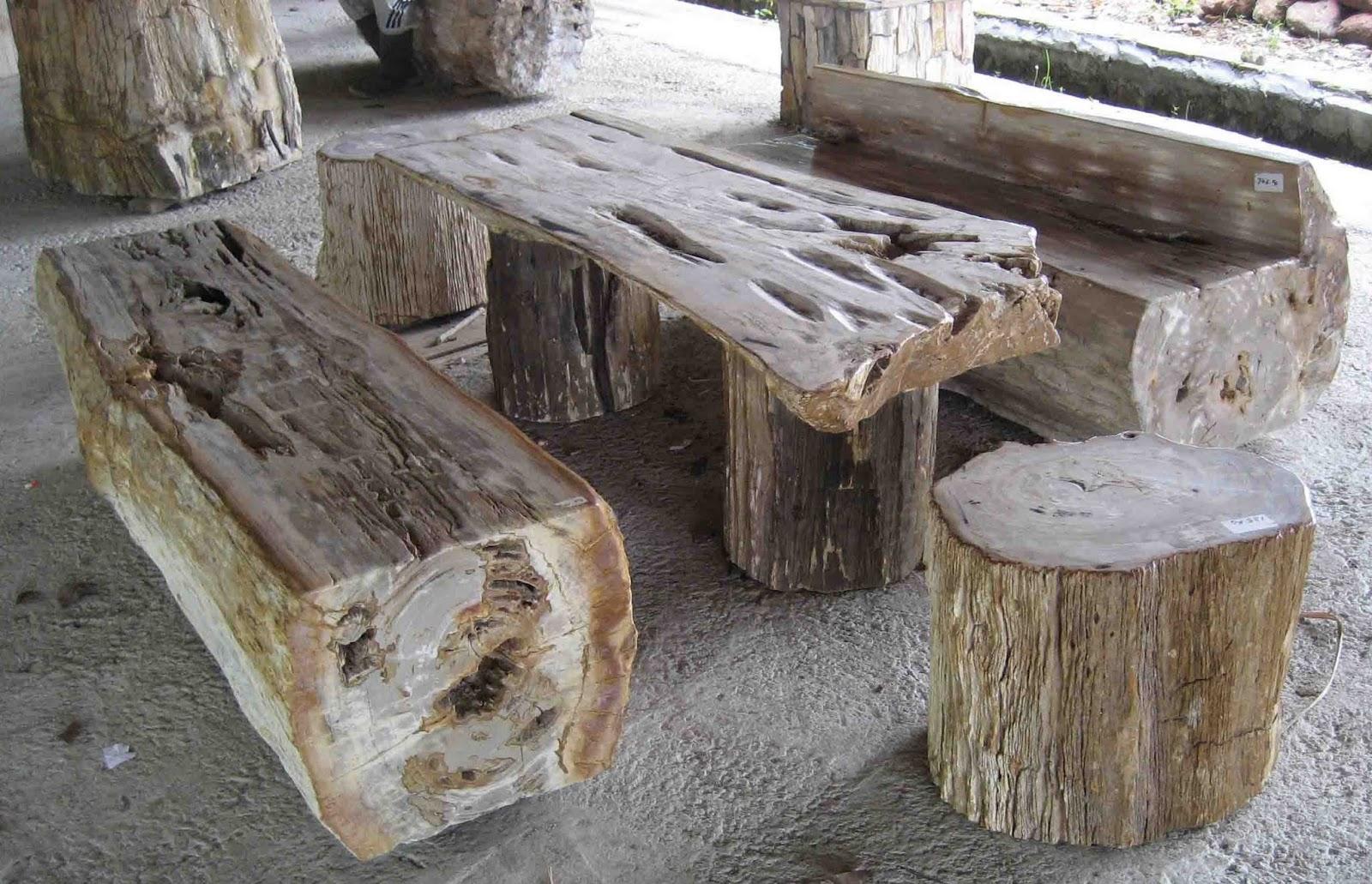 Petrified wood stools car interior design for Petrified wood furniture for sale
