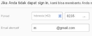 fungsi nomer hp saat membuat email di yahoo