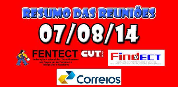 07/08/14 - Resumo das Reuniões - ACT 2014/2015