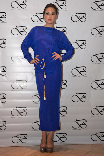 Blue dress by Singapore based Iranian designer Bahareh Badiei
