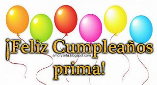 imagen con globos de feliz cumpleaños prima