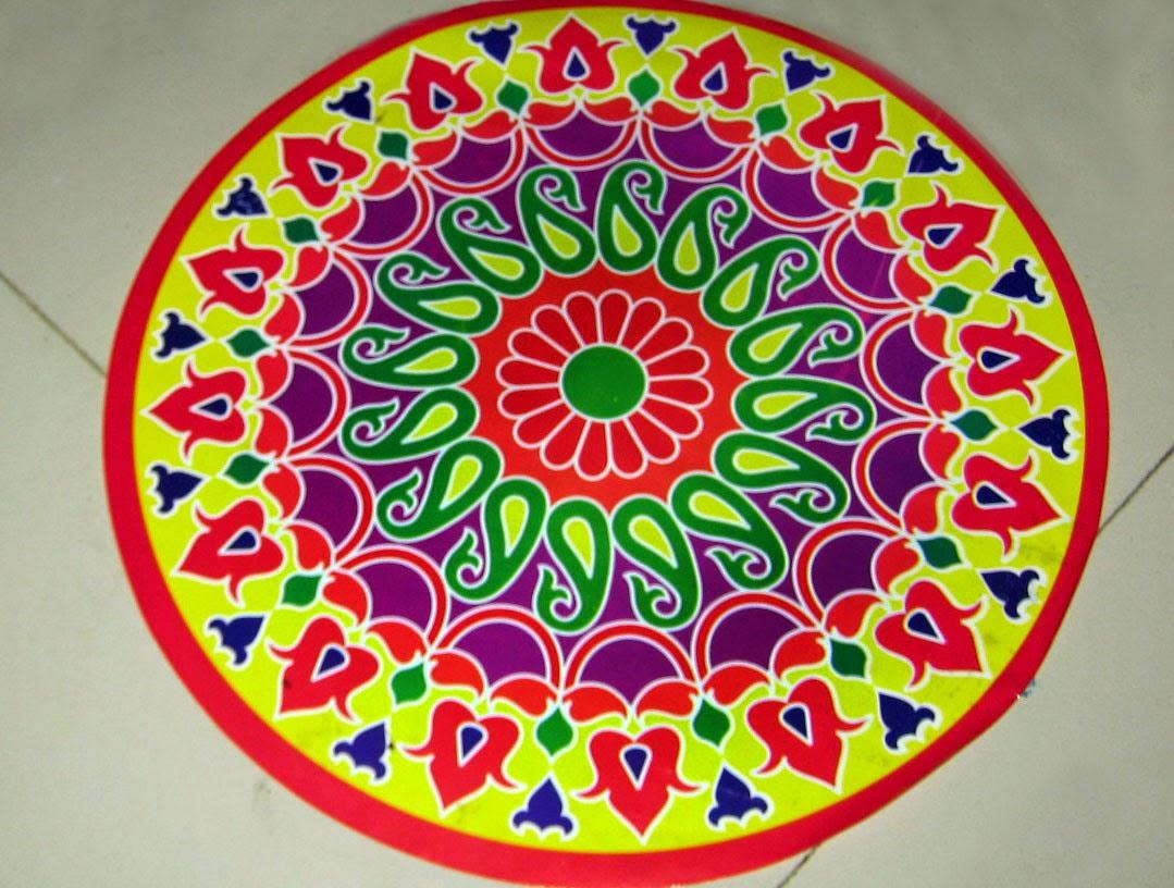 Happy Diwali with colorfull Rangoli  (Wallpaper groups)