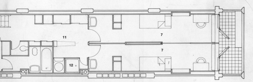 Petit cabanon unit d 39 habitation marseille for Plan habitation