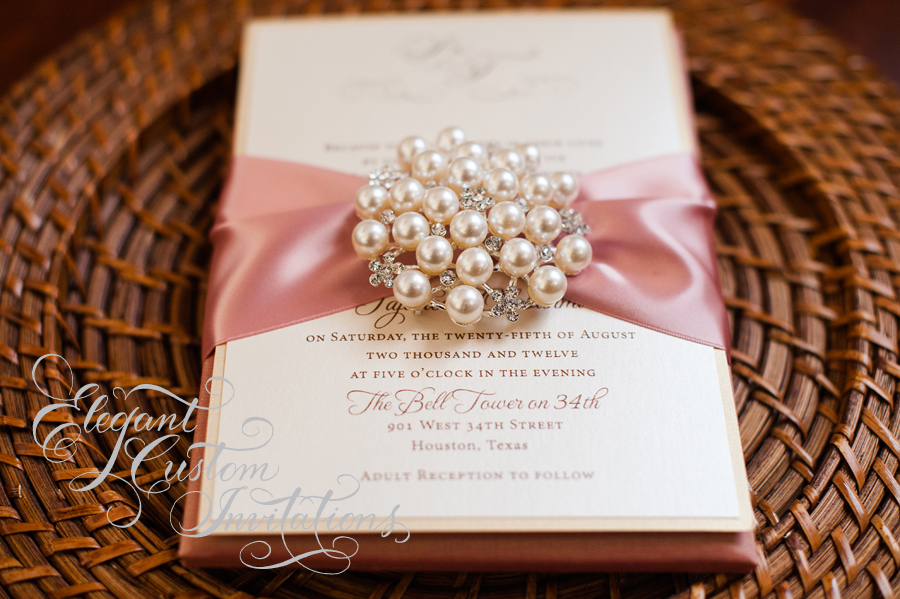 gatefold with product large brooch pearl box wedding invitations invitation lace ivory vintage