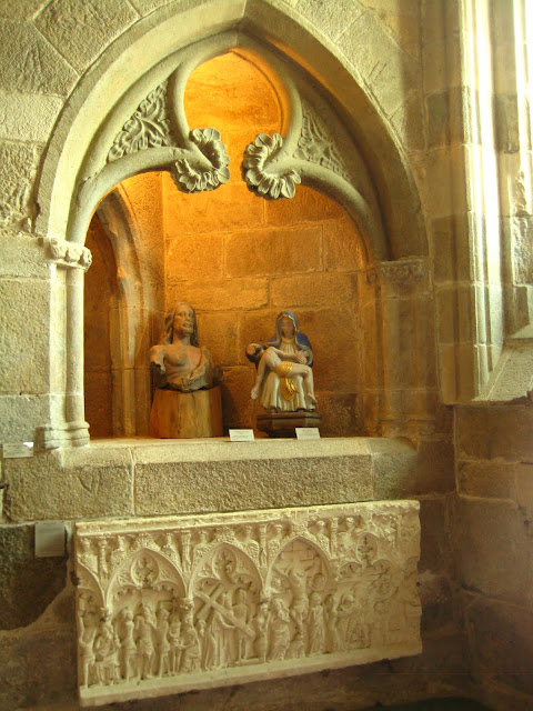 Chapel in Dinan Castle and Museum in Dinan, France.