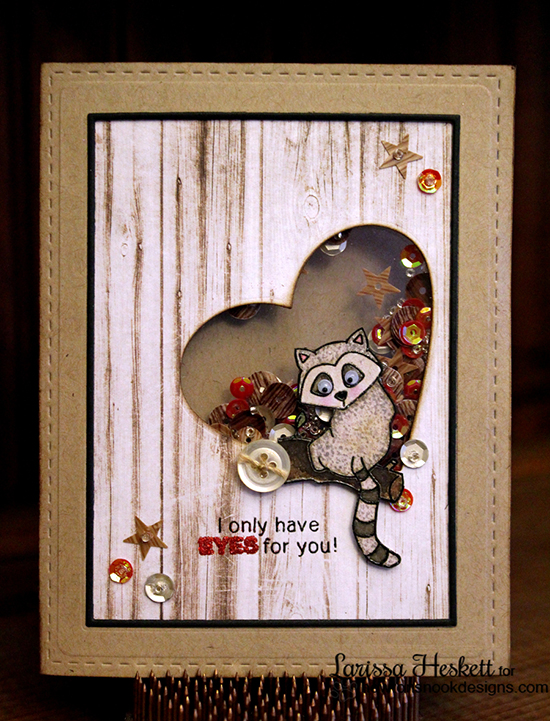 I only have Eyes for you Lemur Shaker Valentine Card by Larissa Heskett | Newton's Nook Designs | Wild about Zoo Stamp Set
