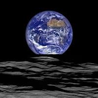 NASA earthrise from Moon HD