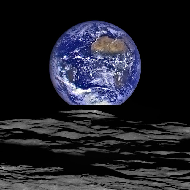 NASA earthrise from Moon HD