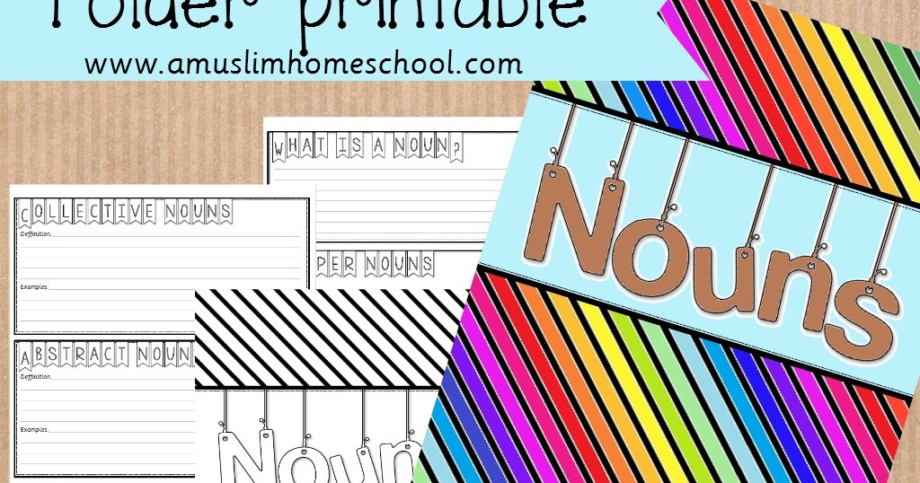 ... : Printable nouns folder....a spin on the traditional worksheet