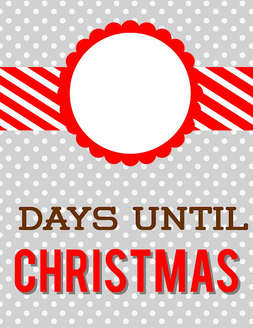 Christmas Countdown Grey Polka