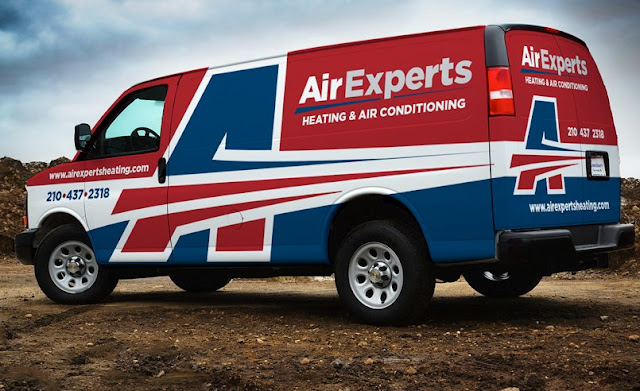 best hvac truck wrap, heating and air truck wrap example.