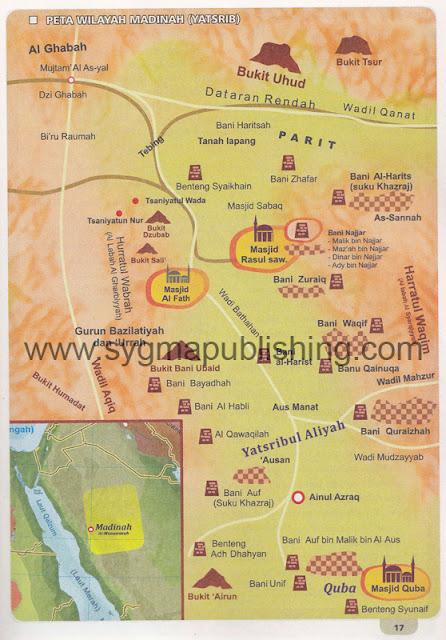 Peta Perang Uhud