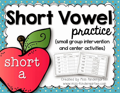 http://www.teacherspayteachers.com/Product/Short-Vowel-Practice-short-a-520799