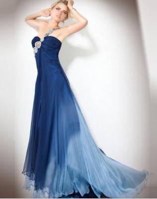 One Shoulder Blue Prom Dresses 2011 Women Formal Dresses Women Long