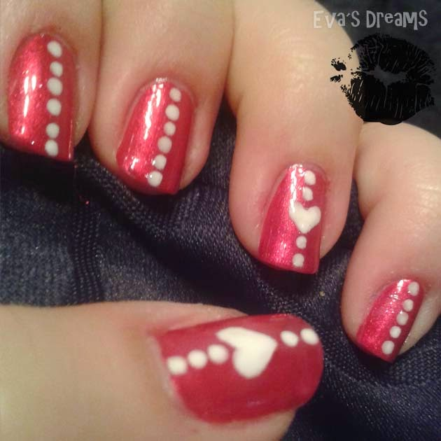 Nails of the week: Nail Design - Valentins Nägel ... Heart