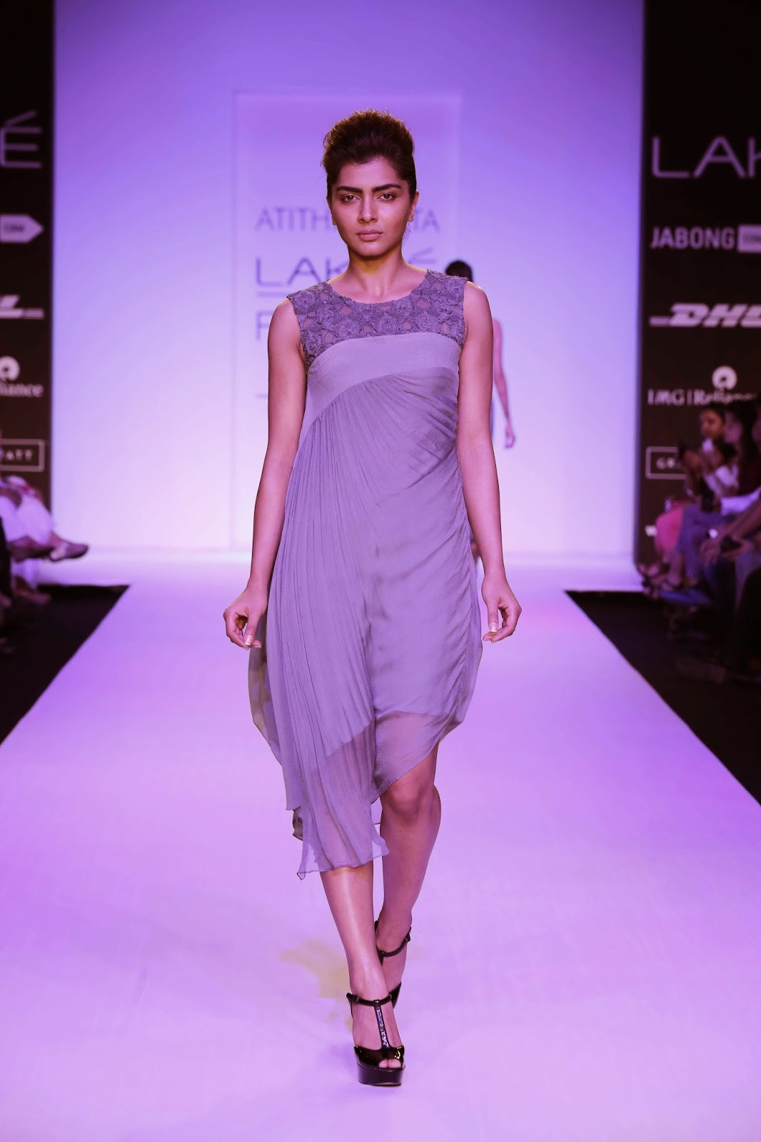 "Calling her collection ""Meraki"", which means 'soul, creativity or love' in Greek, Atithi Gupta presented a sensuous feminine women's wear line at Lakmé Fashion Week Summer/Resort 2014."