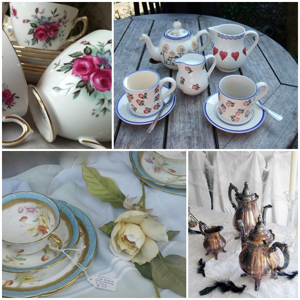 Juegos de té de flores