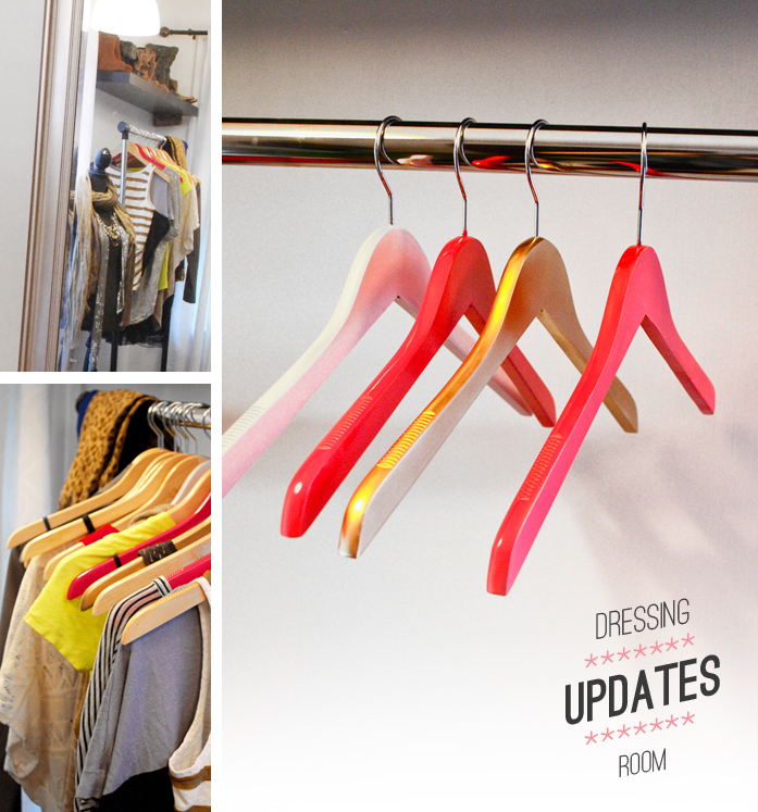 Dressing Room - painted hangers