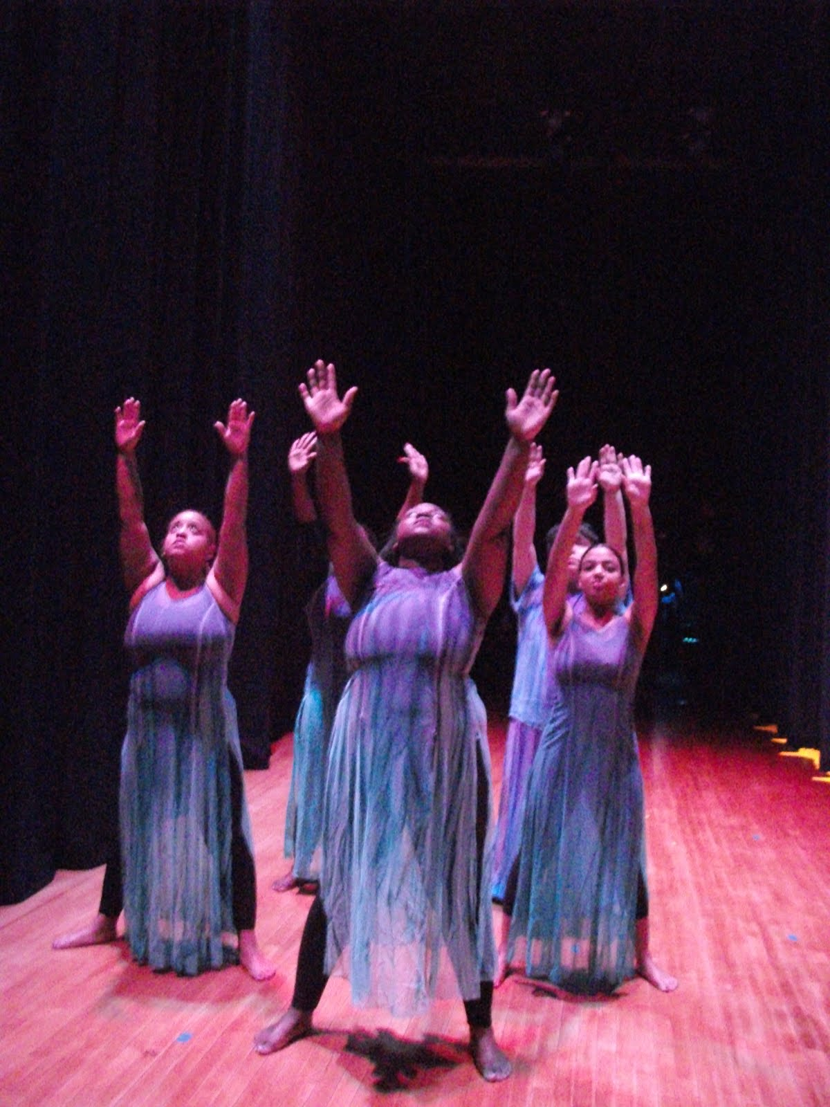 "Modern Dance I Students performing ""I Been 'Buked"" from ""Revelations"", Choreography by Alvin Ailey"