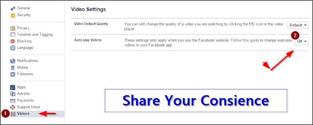stop auto play video ads in facebook