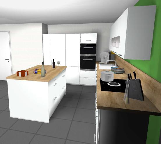 sprung ins gr ne unsere traum k che. Black Bedroom Furniture Sets. Home Design Ideas