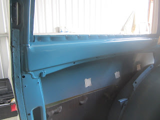 side window back Volvo 122S with new coat colour 99