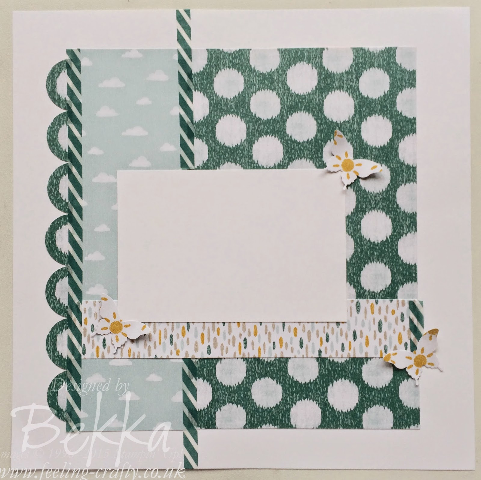 Scrapbook Start Point Using the Sweet Dreams Products from Stampin' Up! UK  Check out this blog for Scrapbook Inspiration Every Saturday