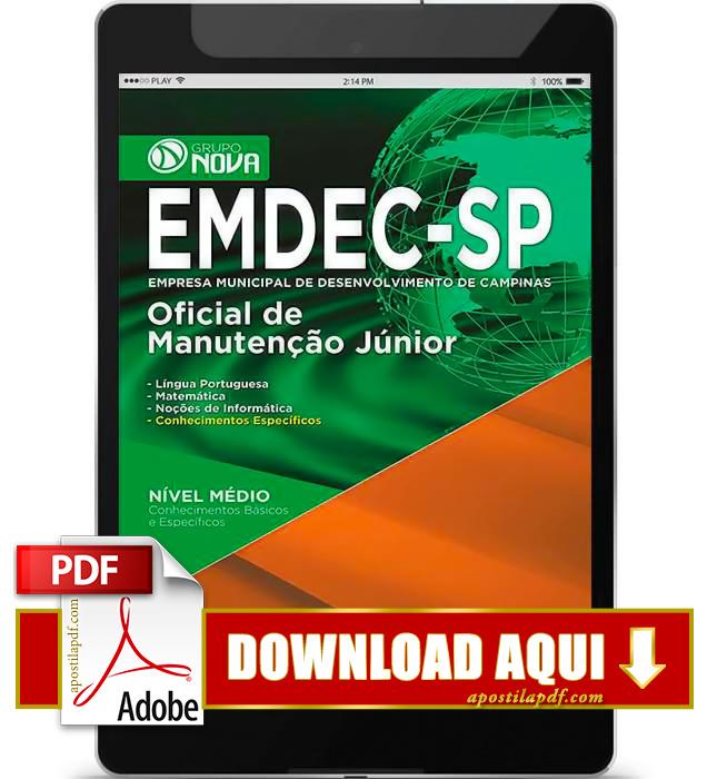 Apostila EMDEC 2015 PDF Download Oficial de Manutenção