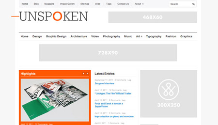 Unspoken WordPress Theme Free Download by WPShower.