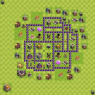Formasi Base Clash of Clans TH7 Farming 4