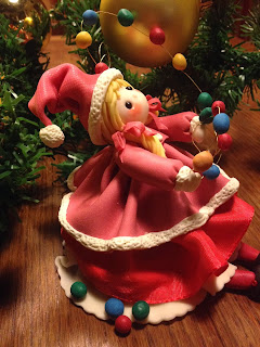 bambola di mais natalizia