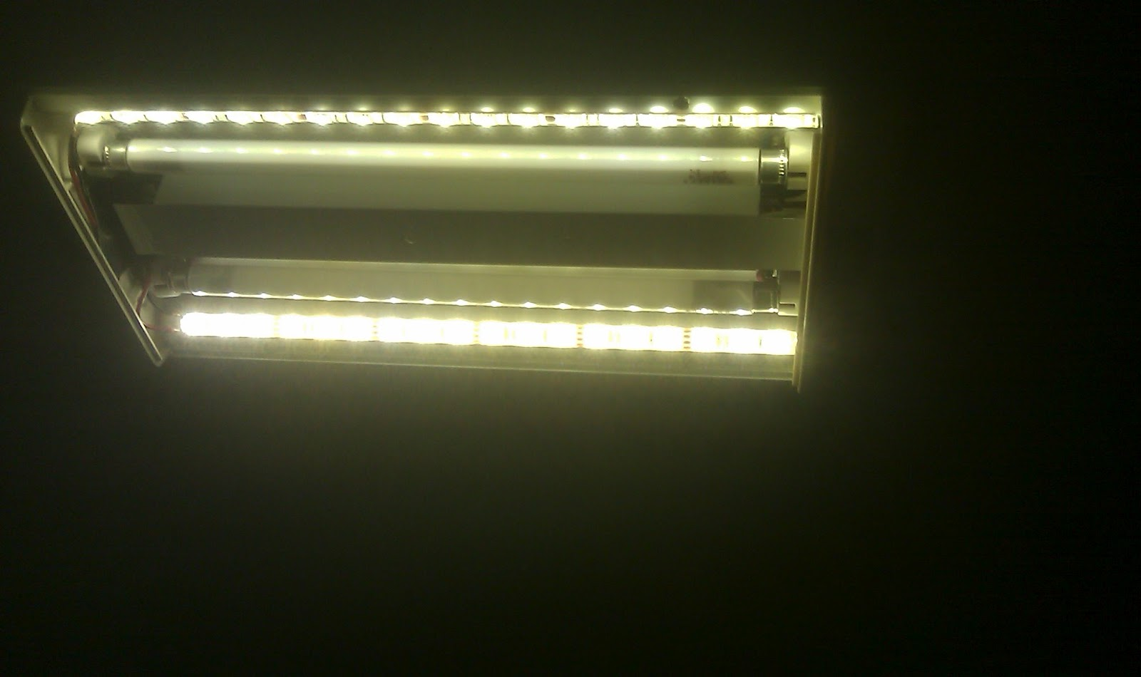 wanderman convert fluorescent lights to led dual use. Black Bedroom Furniture Sets. Home Design Ideas