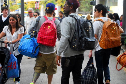 MCM bags street style