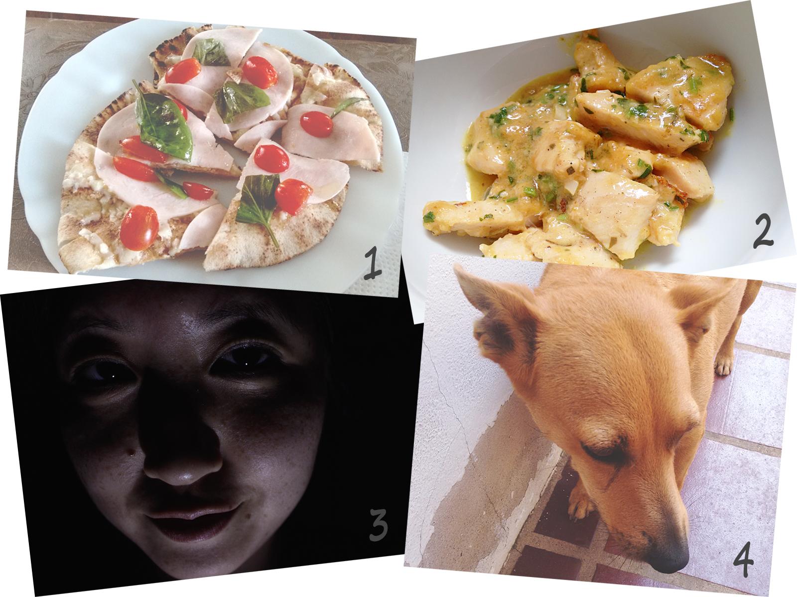 Fragmentos da Semana 1# - Comida + Lika + Fotos no Escuro