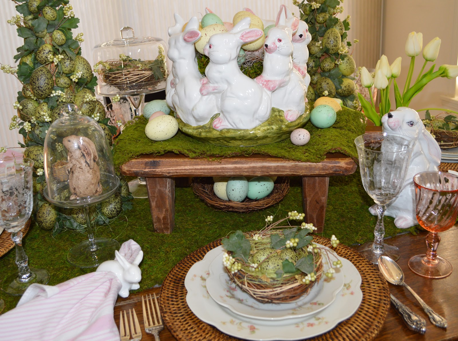 Friendship life and style spring tablescape and decor - Deco de table de paques ...