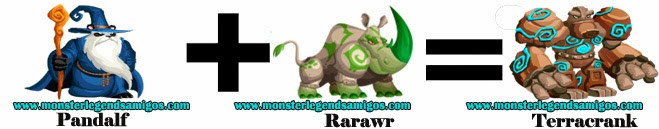 como hacer el monster terracrank en monster legends formula 3