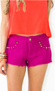 Tweed Shorts with Studs Lulus