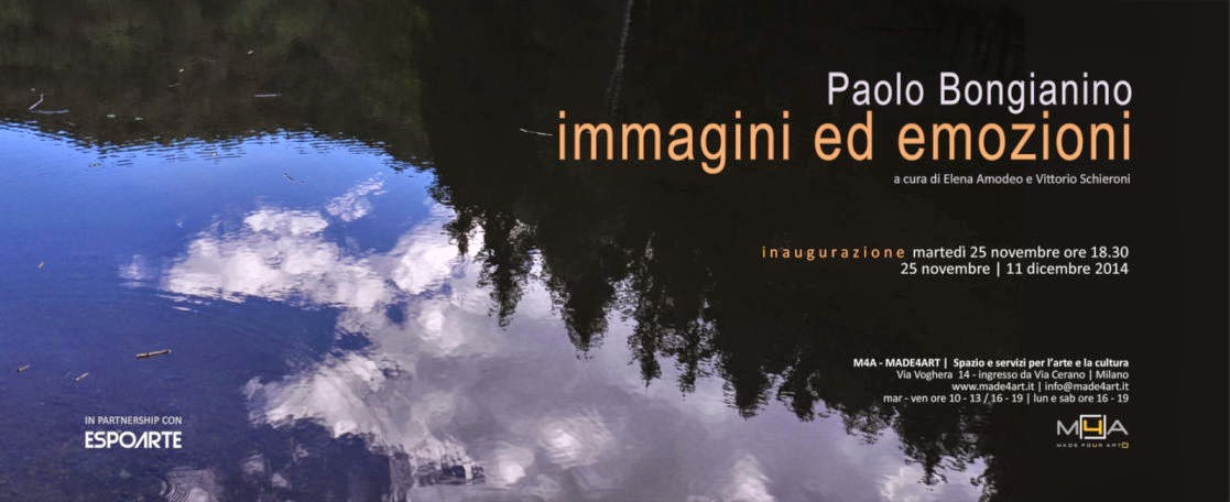 Vernissage a Milano: dal 25 novembre Paolo Bongianino | immagini ed emozioni in mostra da Made4Art