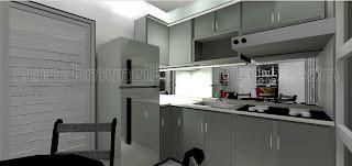 kitchen set mungil minimalis abu-abu