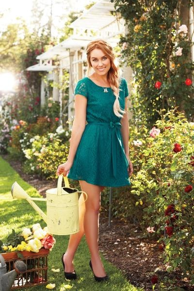 Green dress and yellow shoes