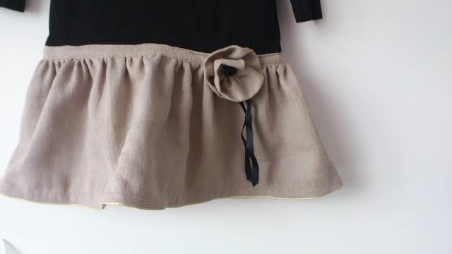 Robe Tee-Shirt pour les journées d'Automne - détail jupe