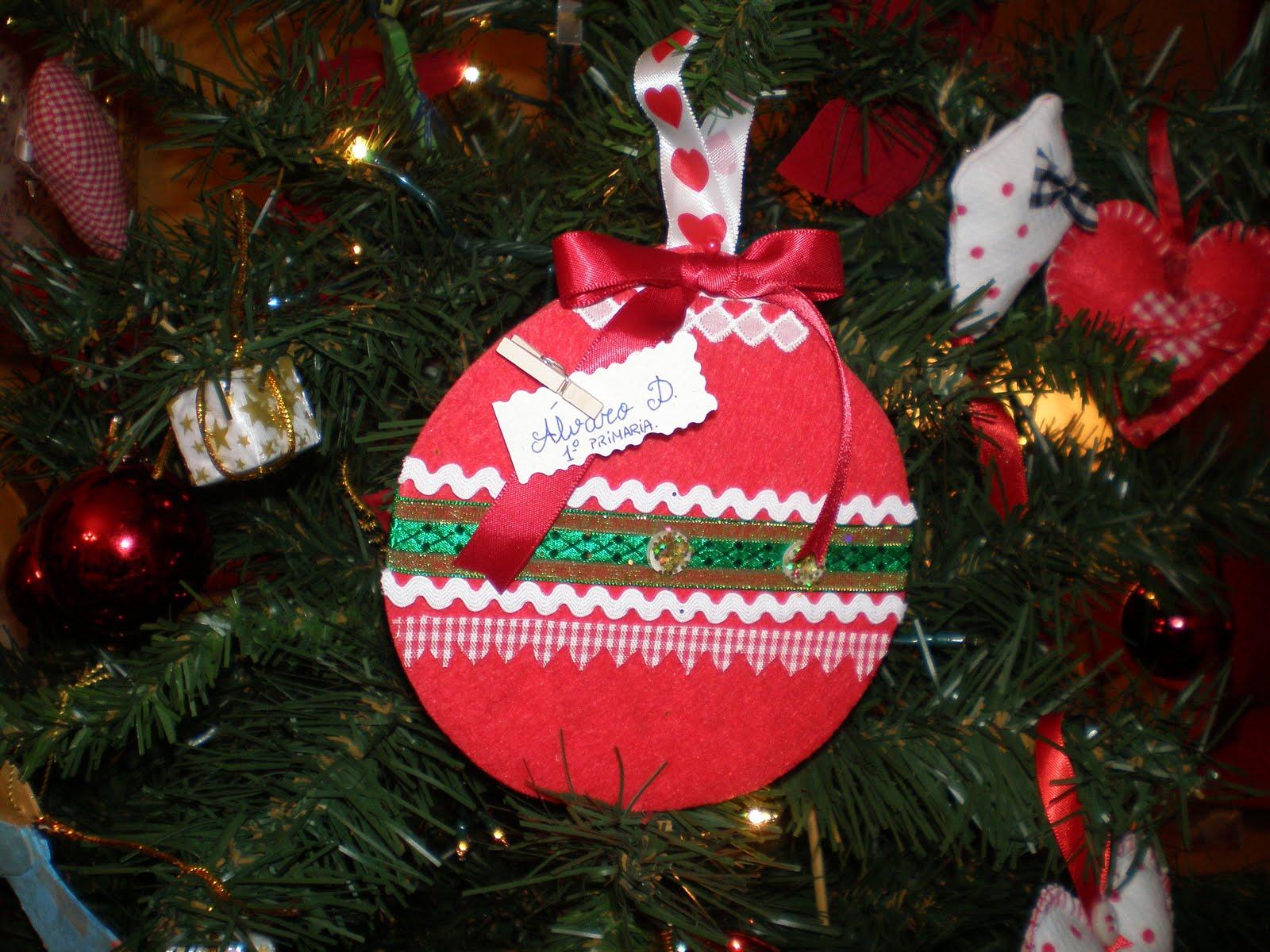 Dentrodelagaveta bola de navidad para el colegio - Como decorar una bola de navidad ...