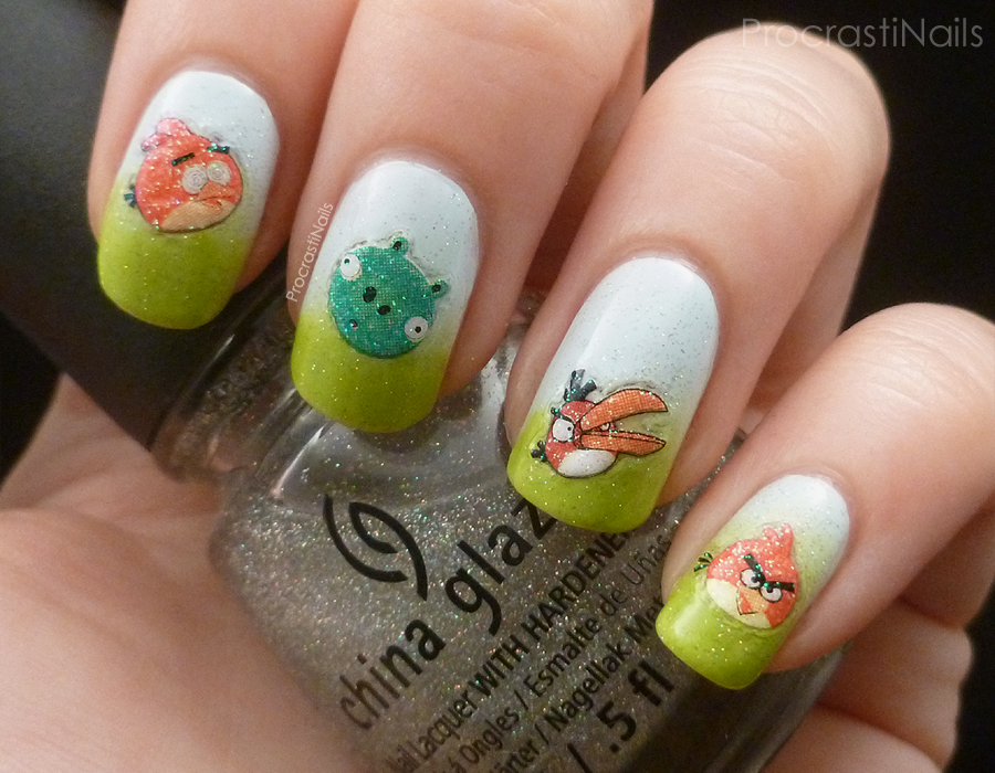 Embrace Your Geekness: Angry Birds Nails! - ProcrastiNails