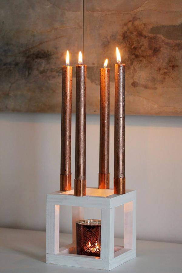 DIY Kubus Kerzenständer Dekohoch3