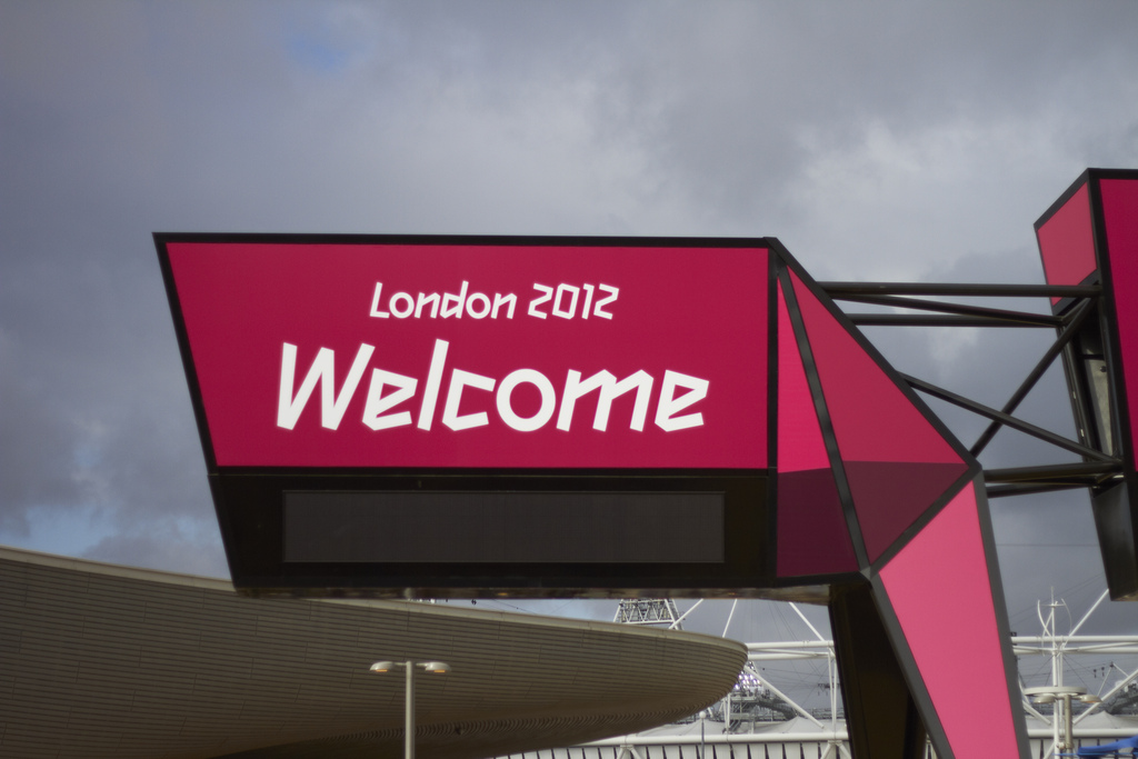 London 2012 Olympic Games Park welcome